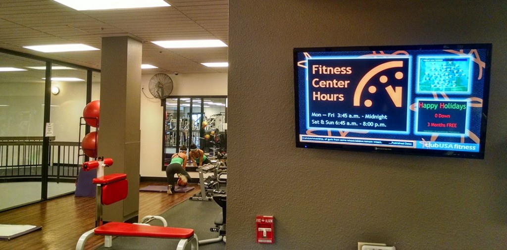 Digital-Signage-gym