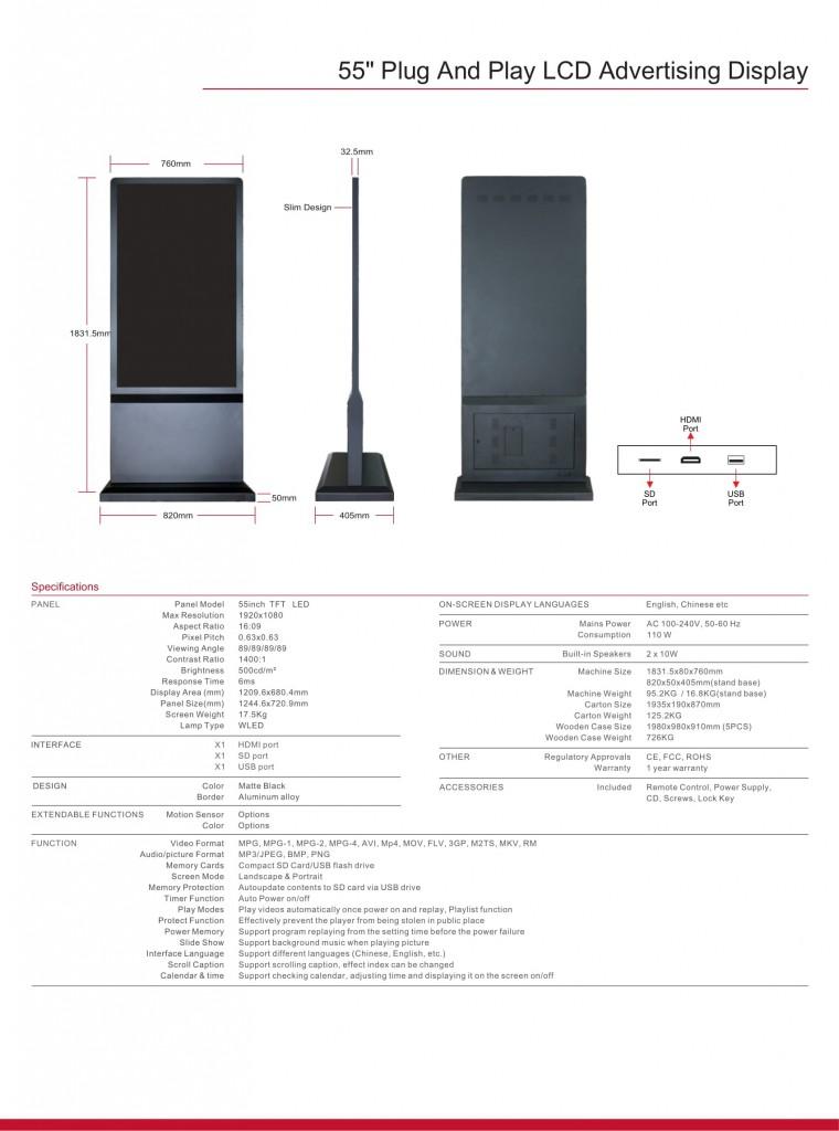 Màn hình cảm ứng điện dung 55 inch 2